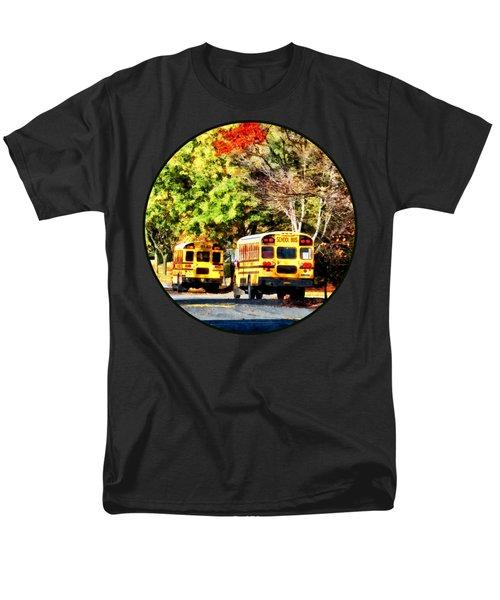 Parked School Buses Men's T-Shirt  (Regular Fit) by Susan Savad