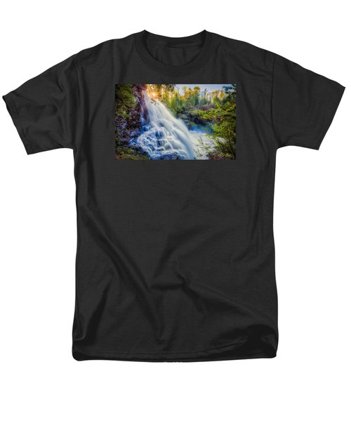 Men's T-Shirt  (Regular Fit) featuring the photograph Partridge Falls In Late Afternoon by Rikk Flohr