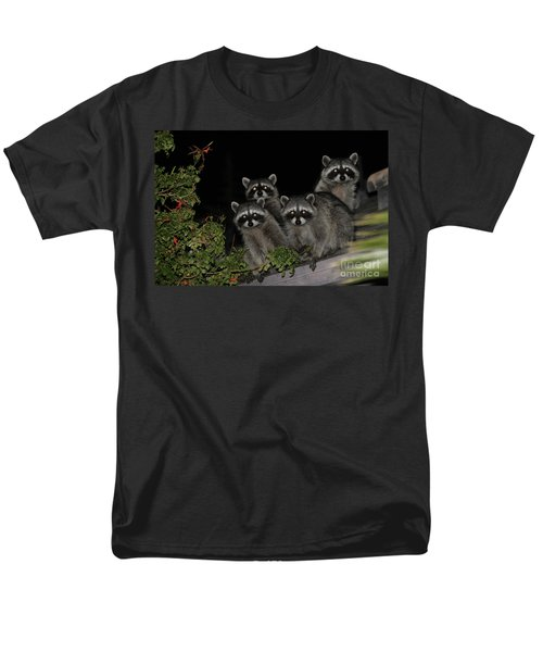 Men's T-Shirt  (Regular Fit) featuring the photograph Party Of Five On The Roof Top by Nina Prommer