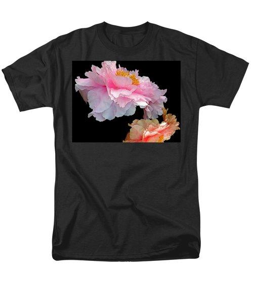 Pas De Deux Glowing Peonies Men's T-Shirt  (Regular Fit) by Lynda Lehmann