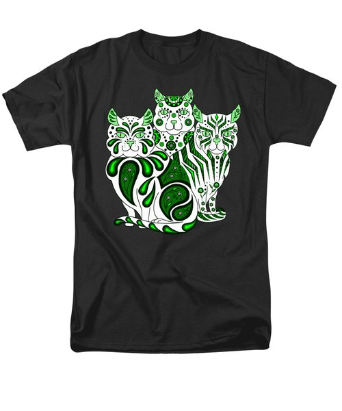 Patches, Stripes, And Bobbles In Green Men's T-Shirt  (Regular Fit) by Ruanna Sion Shadd a'Dann'l Yoder