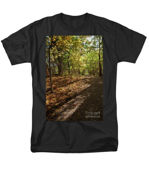 Men's T-Shirt  (Regular Fit) featuring the photograph Pathways In Fall by Iris Greenwell