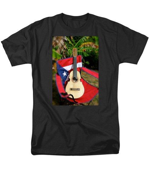 Patriotic Cuatro Men's T-Shirt  (Regular Fit) by The Art of Alice Terrill