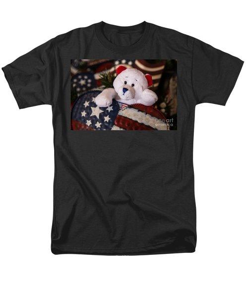 Patriotic Teddy Bear Men's T-Shirt  (Regular Fit) by Lynn Sprowl