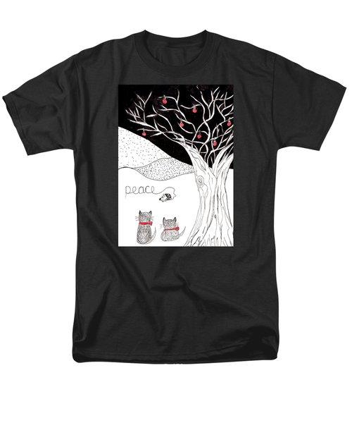 Peace Men's T-Shirt  (Regular Fit) by Lou Belcher