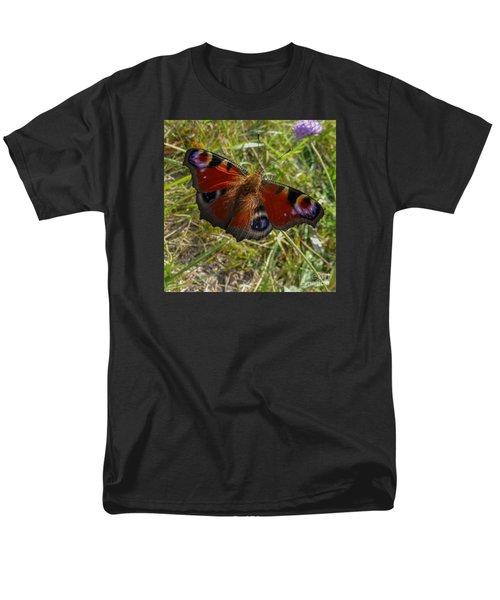 Men's T-Shirt  (Regular Fit) featuring the photograph Peacock Butterfly by Jean Bernard Roussilhe