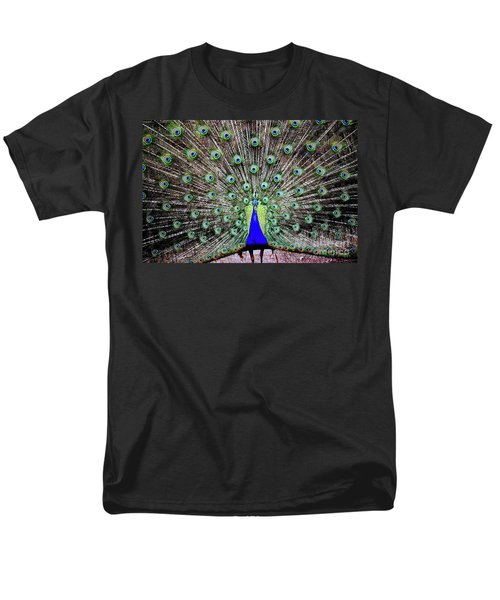 Men's T-Shirt  (Regular Fit) featuring the photograph Peacock by Vivian Krug Cotton