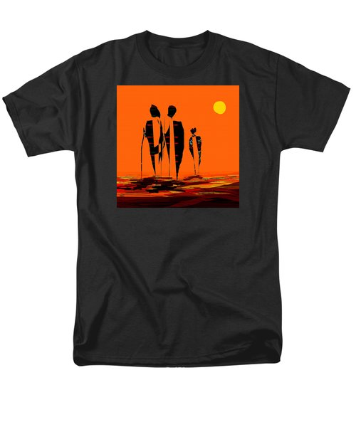 Men's T-Shirt  (Regular Fit) featuring the painting Penman Origiinal-295-long Walk Home by Andrew Penman