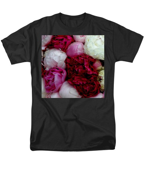 Peony Bouquet Men's T-Shirt  (Regular Fit) by Lainie Wrightson
