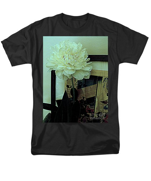 Men's T-Shirt  (Regular Fit) featuring the photograph Peony Pose by Nancy Kane Chapman