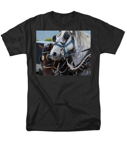 Percheron Horses Men's T-Shirt  (Regular Fit) by Theresa Tahara