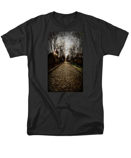 Men's T-Shirt  (Regular Fit) featuring the photograph Pere Lachaise Cemetery Road 2 by Katie Wing Vigil