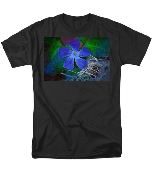 Men's T-Shirt  (Regular Fit) featuring the digital art Periwinkle Blue by Donna Bentley
