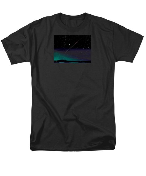 Men's T-Shirt  (Regular Fit) featuring the digital art Perseid Meteor Shower  by Jean Pacheco Ravinski