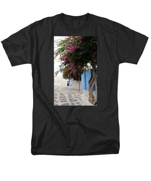 Men's T-Shirt  (Regular Fit) featuring the photograph Perspective Blue Door by Haleh Mahbod