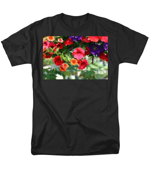 Men's T-Shirt  (Regular Fit) featuring the photograph Petunias by Denise Pohl