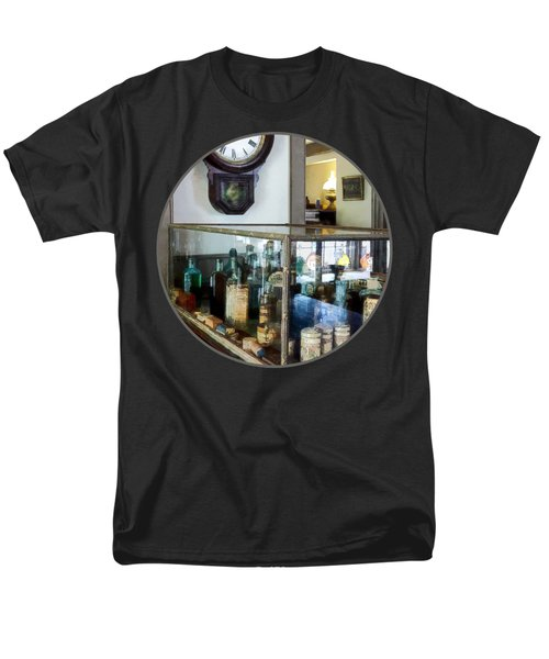 Men's T-Shirt  (Regular Fit) featuring the photograph Pharmacist - Corner Drug Store by Susan Savad