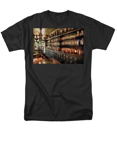 Pharmacy - So Many Drawers And Bottles Men's T-Shirt  (Regular Fit) by Mike Savad