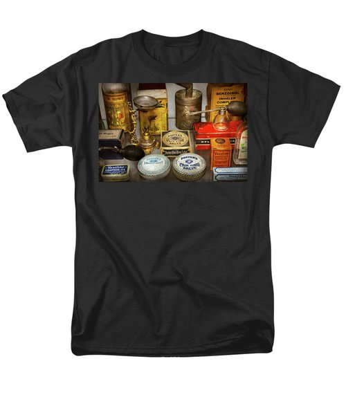 Men's T-Shirt  (Regular Fit) featuring the photograph Pharmacy - The Pain King by Mike Savad