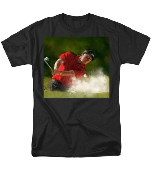 Phil Mickelson - Lefty In Action Men's T-Shirt  (Regular Fit) by Colleen Taylor