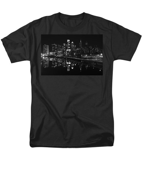 Philly And The Schuylkill Bw Men's T-Shirt  (Regular Fit) by Jennifer Ancker