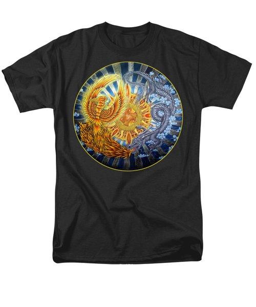 Phoenix And Dragon Men's T-Shirt  (Regular Fit) by Rebecca Wang
