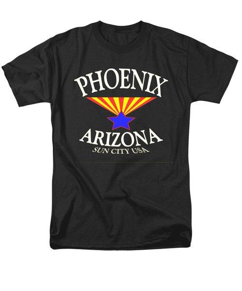 Phoenix Arizona Tshirt Design Men's T-Shirt  (Regular Fit) by Art America Gallery Peter Potter