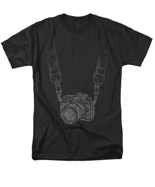 Photography Slang Word Cloud Camera Men's T-Shirt  (Regular Fit) by Felikss Veilands