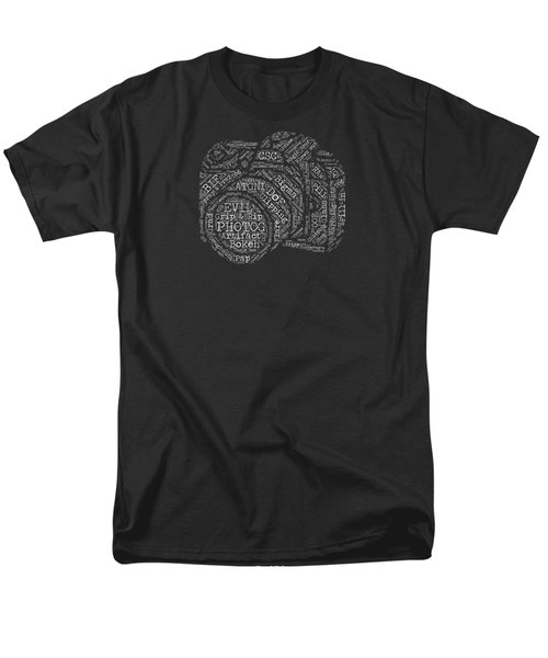 Photography Slang Word Cloud Men's T-Shirt  (Regular Fit) by Felikss Veilands