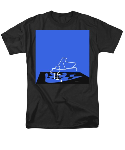 Men's T-Shirt  (Regular Fit) featuring the digital art Piano In Blue by Jazz DaBri