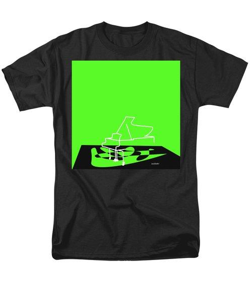Piano In Green Men's T-Shirt  (Regular Fit) by David Bridburg