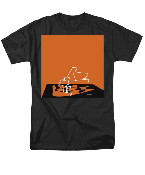 Men's T-Shirt  (Regular Fit) featuring the digital art Piano In Orange by Jazz DaBri