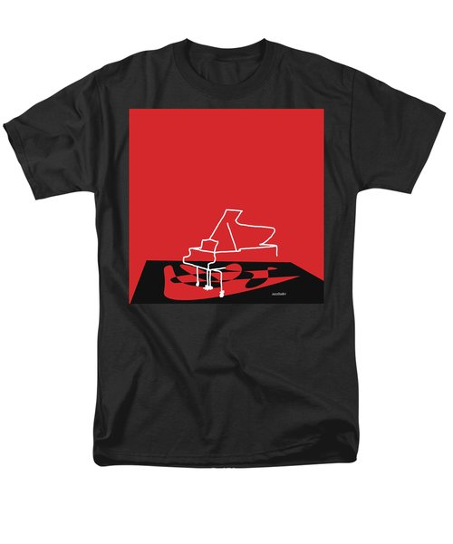 Men's T-Shirt  (Regular Fit) featuring the digital art Piano In Red by Jazz DaBri