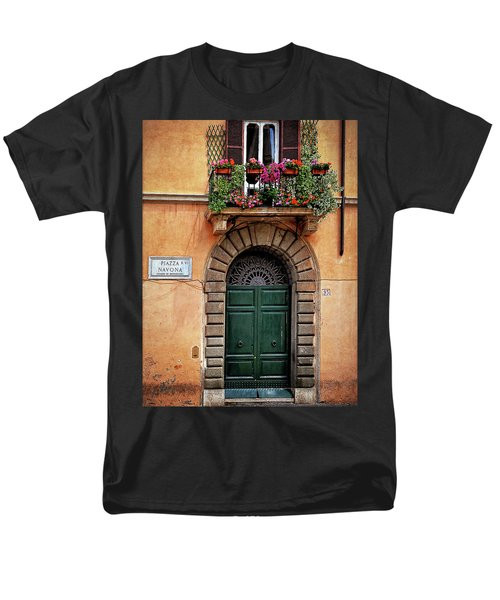 Men's T-Shirt  (Regular Fit) featuring the photograph Piazza Navona House by Marion McCristall