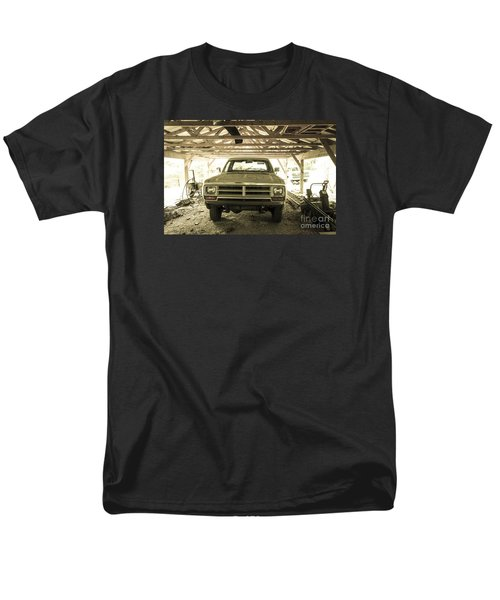 Pick Up Truck In Rural Farm Setting Men's T-Shirt  (Regular Fit) by Perry Van Munster