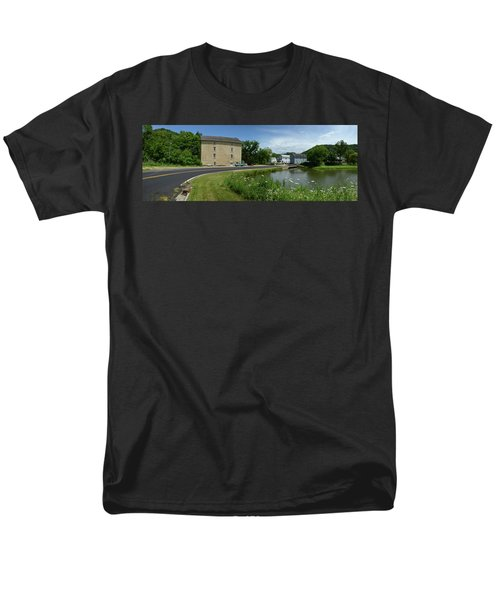 Men's T-Shirt  (Regular Fit) featuring the photograph Pickwick Mill Panorama by Janice Adomeit