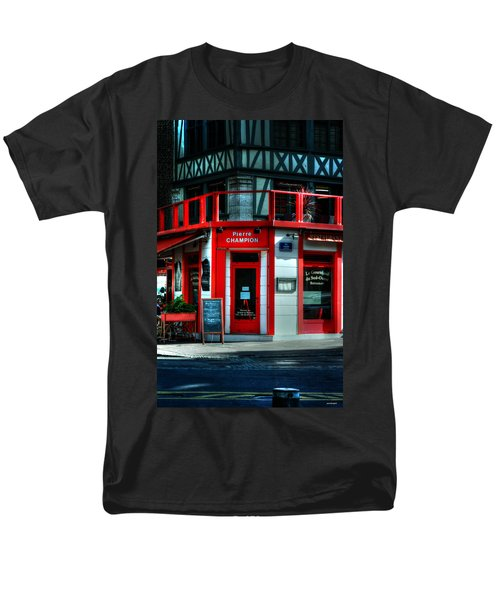 Men's T-Shirt  (Regular Fit) featuring the photograph Pierre Champion Rouen France by Tom Prendergast