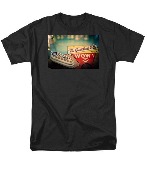 Pinball - Wow Men's T-Shirt  (Regular Fit) by Colleen Kammerer