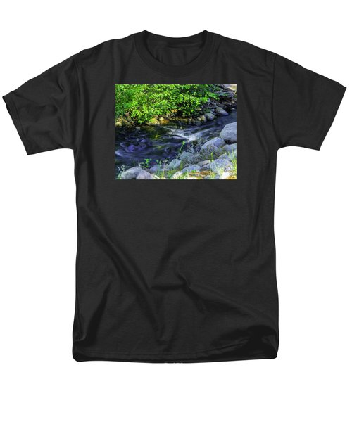 Pinecones Sage And Slow Moving Water Men's T-Shirt  (Regular Fit) by Nancy Marie Ricketts