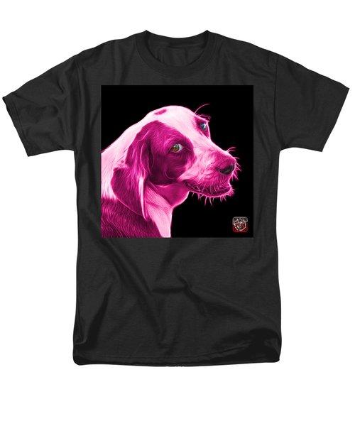 Pink Beagle Dog Art- 6896 - Bb Men's T-Shirt  (Regular Fit) by James Ahn