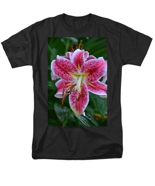 Pink Lily Men's T-Shirt  (Regular Fit) by Bonnie Myszka