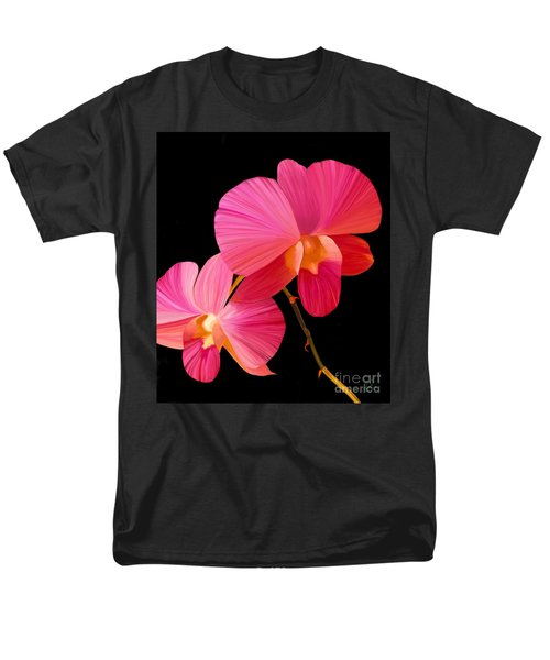 Men's T-Shirt  (Regular Fit) featuring the painting Pink Lux by Rand Herron
