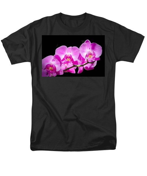 Pink Orchid Flora Men's T-Shirt  (Regular Fit) by Bruce Pritchett
