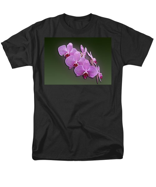 Men's T-Shirt  (Regular Fit) featuring the photograph Pink Orchids by John Haldane