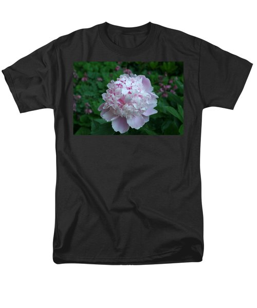 Men's T-Shirt  (Regular Fit) featuring the digital art Pink Peony by Barbara S Nickerson