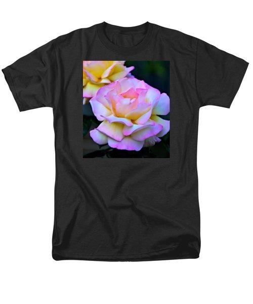 Pink Rose Men's T-Shirt  (Regular Fit) by Josephine Buschman