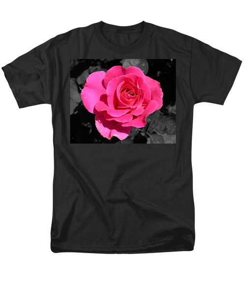 Perfect Pink Rose Men's T-Shirt  (Regular Fit) by Michael Bessler