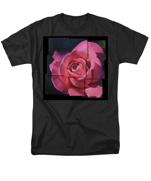 Pink Rose Photo Sculpture Men's T-Shirt  (Regular Fit) by Michael Bessler