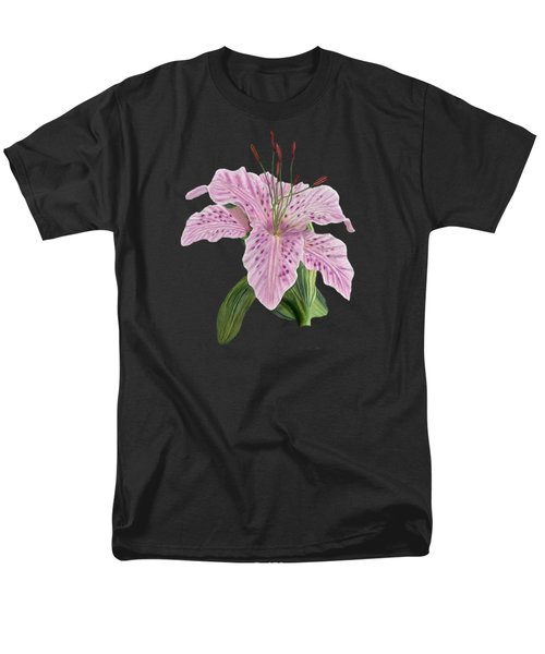 Pink Tiger Lily Blossom Men's T-Shirt  (Regular Fit) by Walter Colvin