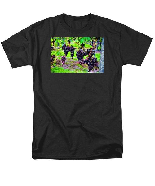 Men's T-Shirt  (Regular Fit) featuring the photograph Pinot Noir Grapes by Rick Bragan